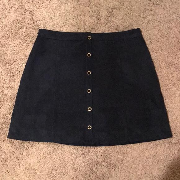 11ca6d5b13f82d Hollister Skirts | Co Suede Button Up Skirt | Poshmark